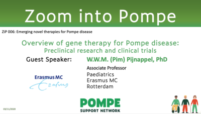 "ZiP 006: ""Overview of gene therapy for Pompe disease"""