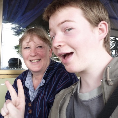 Charlie Golder and his Mum, Lucy